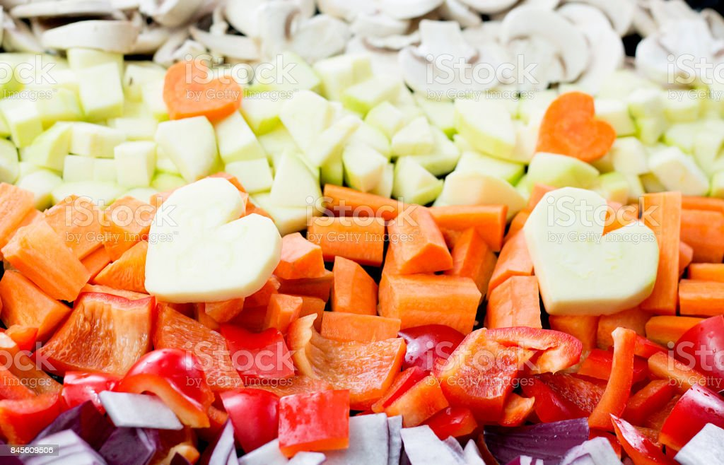 Seamless vegetables stock photo