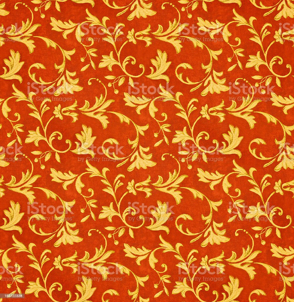 Seamless Victorian Floral Fabric Pattern royalty-free stock photo