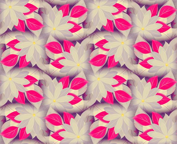 vintage musterdesign, dekorative blumen, lila-flieder - vogue muster stock-fotos und bilder