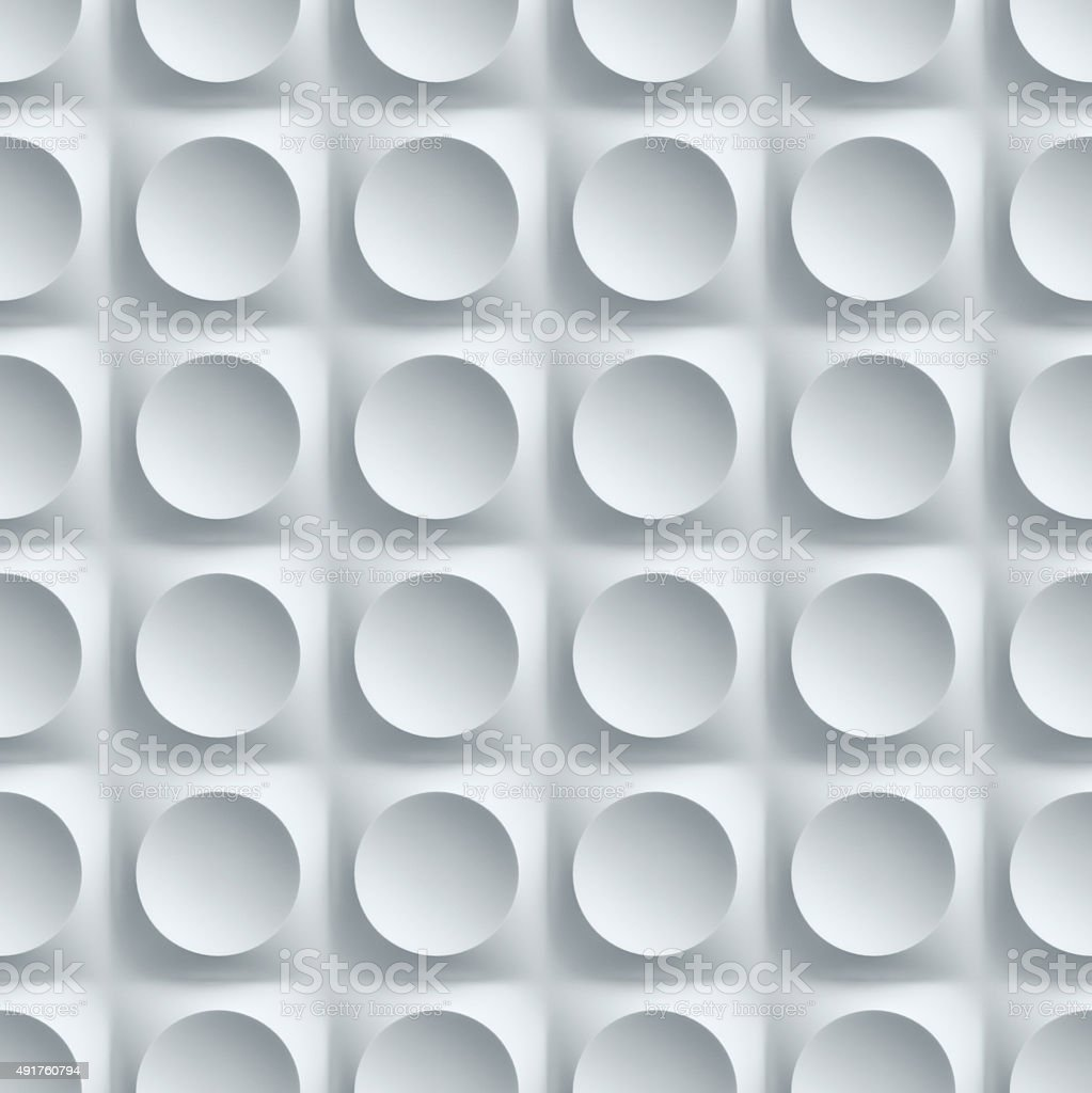 seamless wall panel with circular patterns stock photo