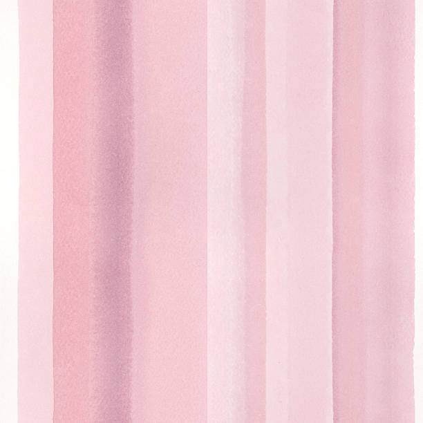 Seamless watercolor background with hand painted stripes in rose pink. stock photo