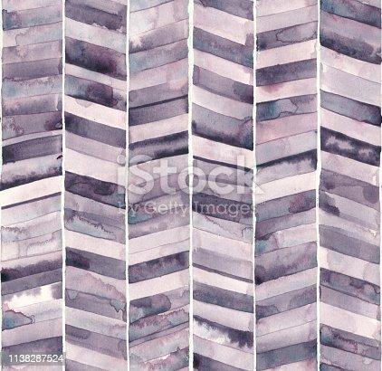 istock Seamless watercolor chevron 1138287524