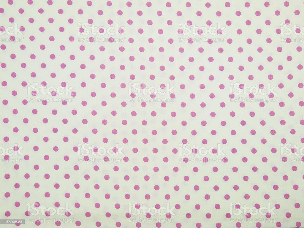 Seamless Bianco E Rosa Sfondo Tessuto A Pois Fotografie Stock E