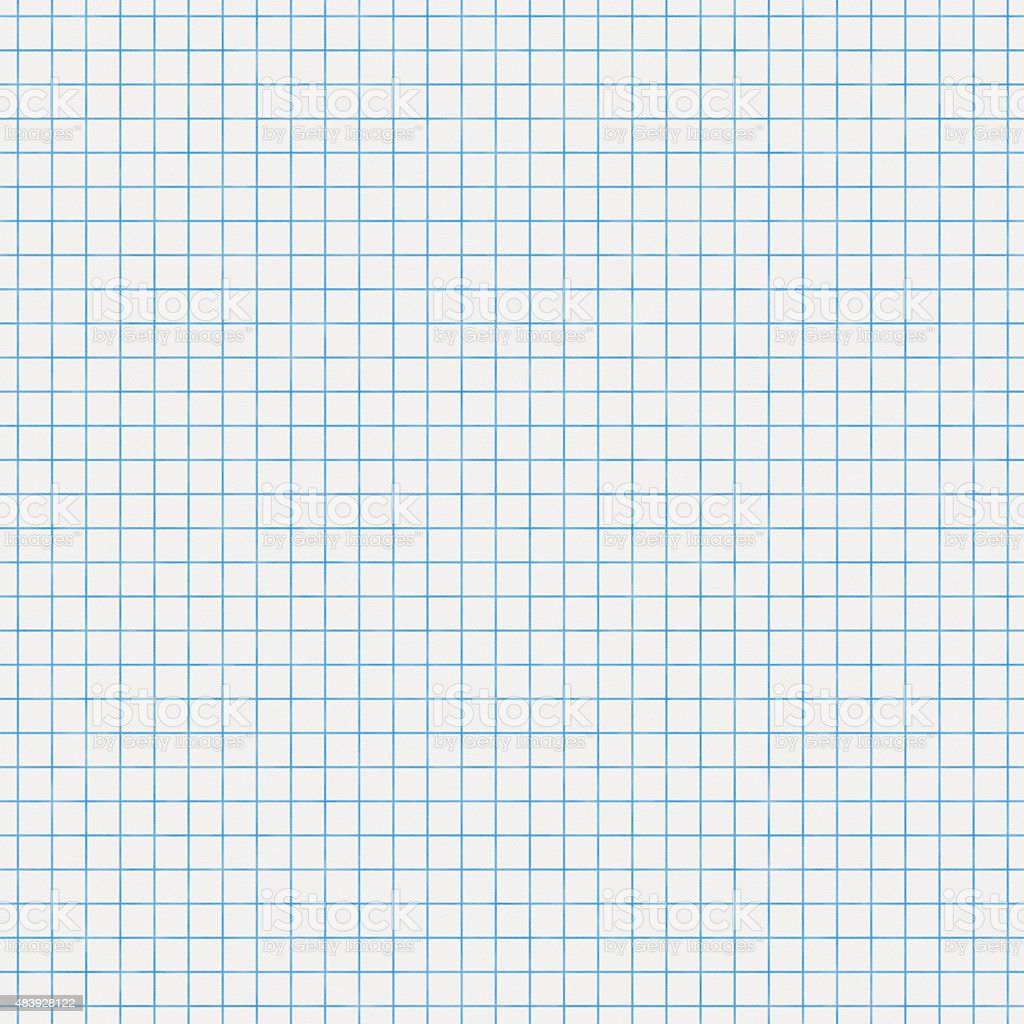 Seamless white graph paper stock photo