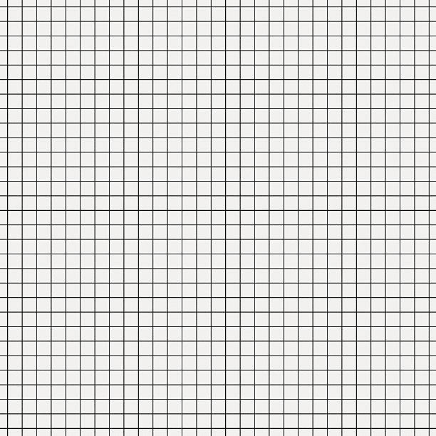seamless white graph paper with black lines - grid pattern stock photos and pictures