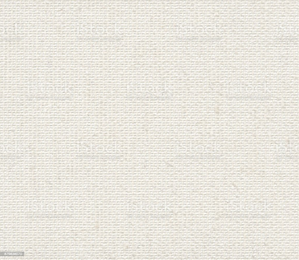 Seamless white linen canvas background stock photo