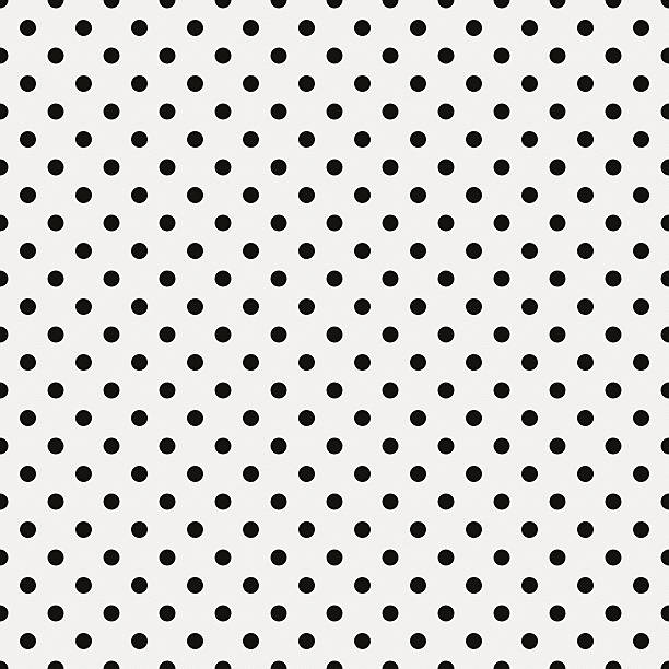 Seamless white paper with black dots stock photo