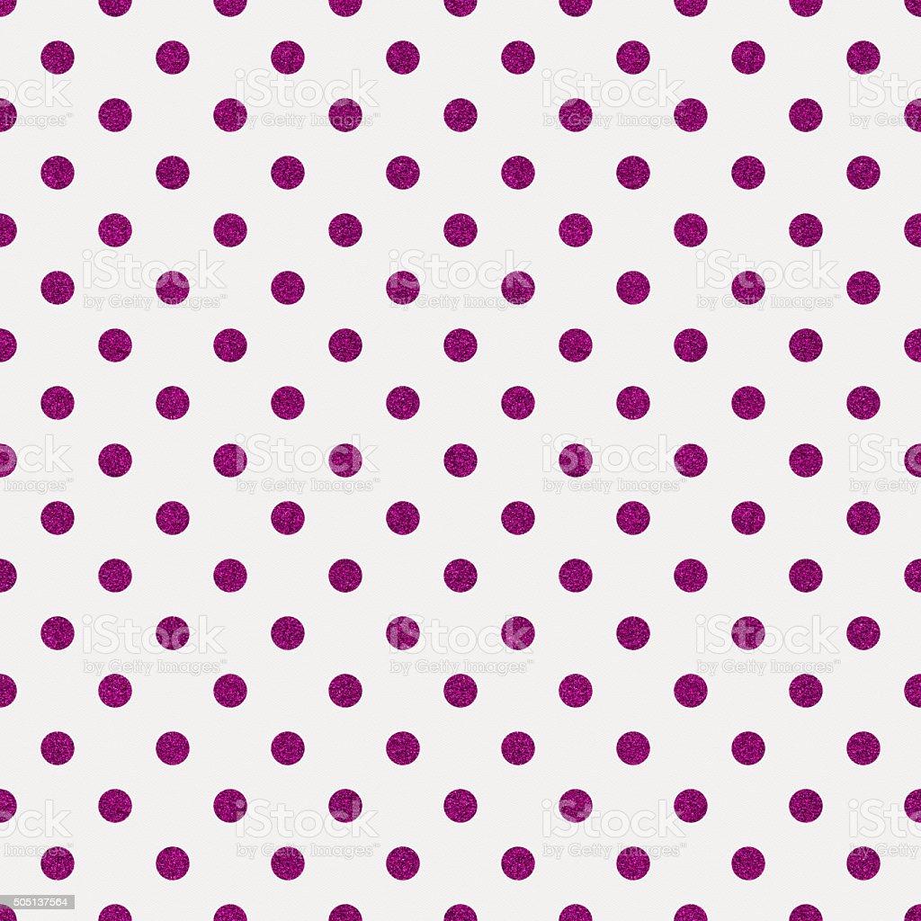 Seamless white paper with purple glitter dots stock photo
