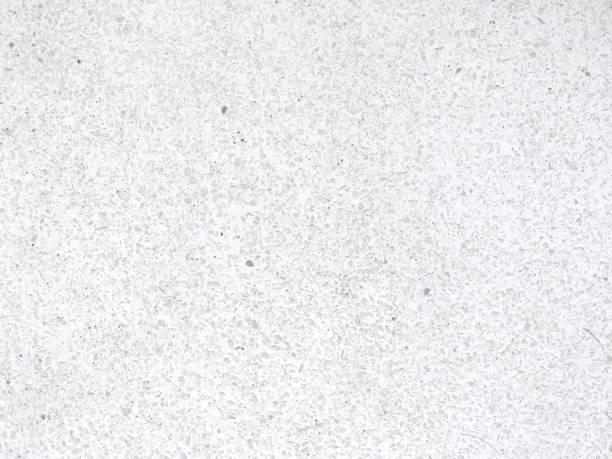 Seamless white terrazzo textured stock photo