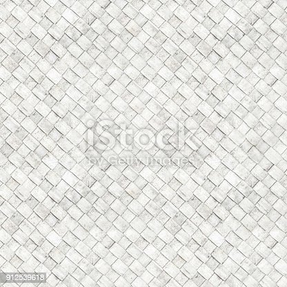 istock Seamless white wicker textured 912539618