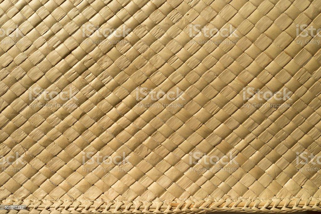 Seamless wicker straw pattern stock photo