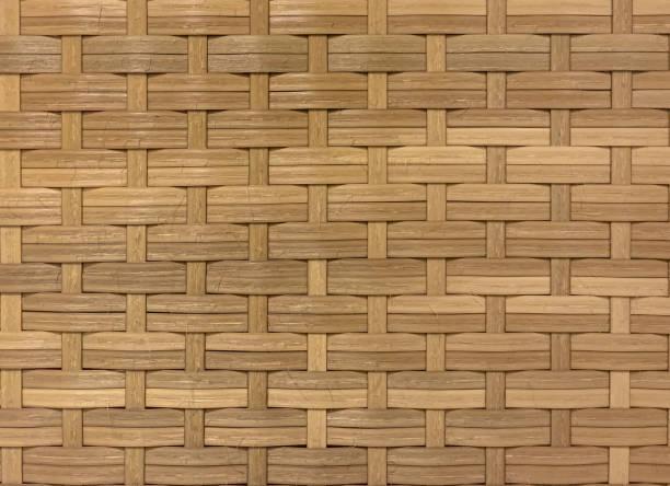 Seamless wicker woven texture stock photo