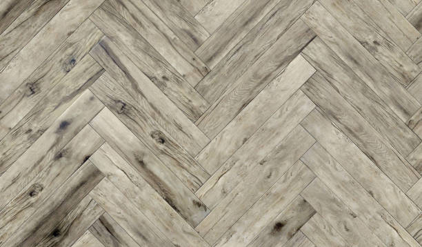 seamless wood parquet texture herringbone pattern, diffuse - chevron stock photos and pictures
