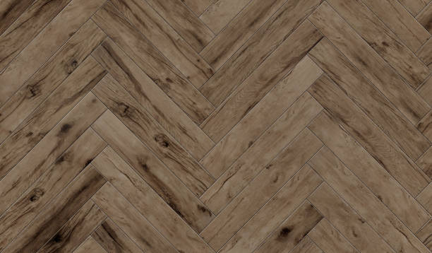 Seamless wood parquet texture herringbone pattern, diffuse stock photo