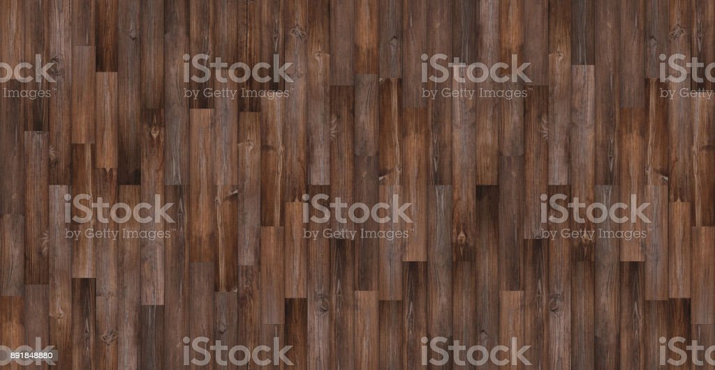 Seamless wood texture, Panoramic dark wood floor texture background stock photo