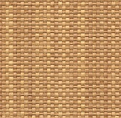 Seamless yellow wicker background