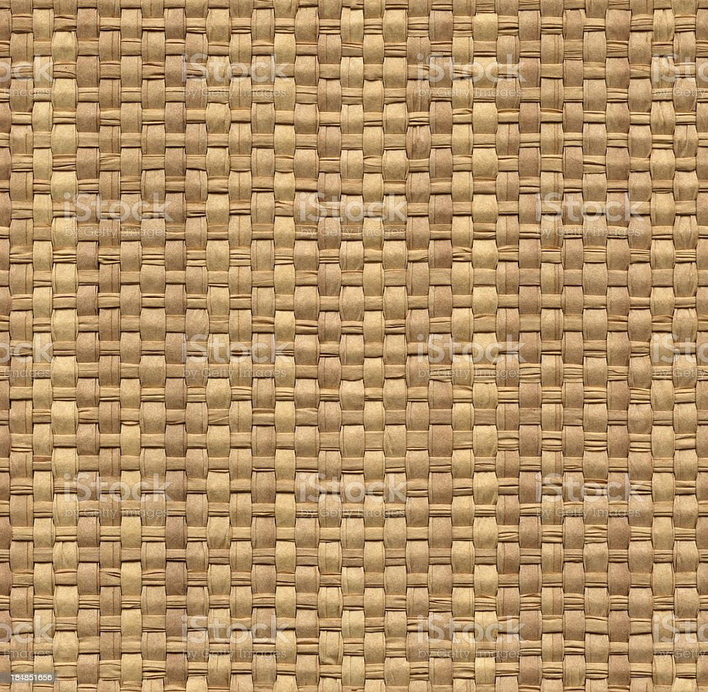 Seamless yellow wicker background stock photo