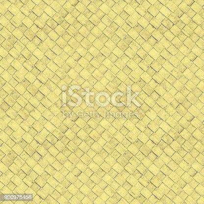 Seamless yellow wicker textured