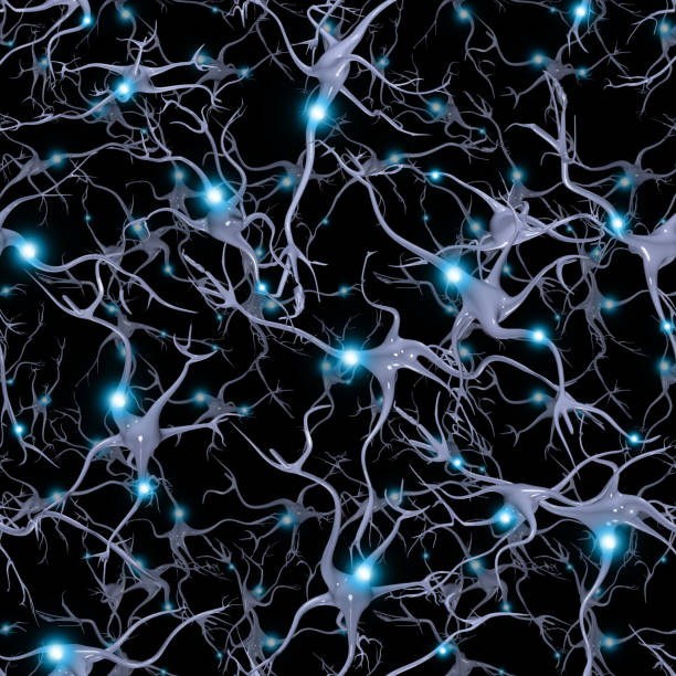 Seamlessly Repeatable Brain Cells Pattern stock photo