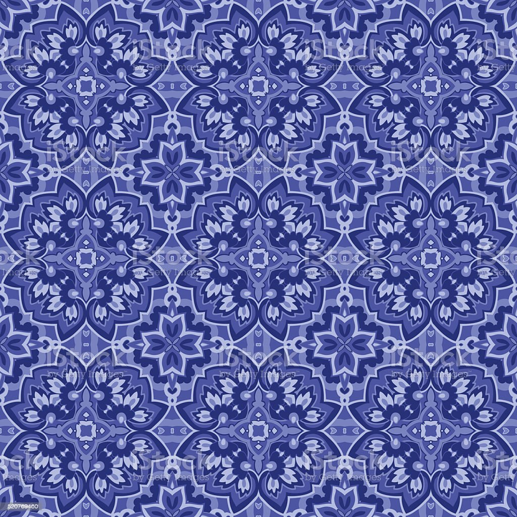 Seamlessly repeating paisley pattern stock photo