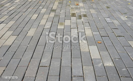 A background texture of cobbles in garden