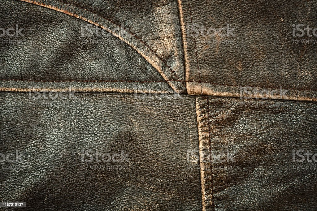 Seams on leather product royalty-free stock photo