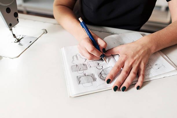 裁縫で、スケッチのバッグ ストックフォト