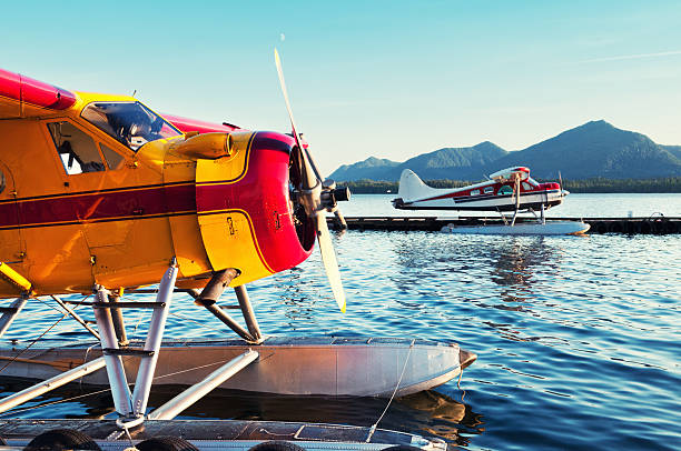 Seaplane Docks  ketchikan stock pictures, royalty-free photos & images