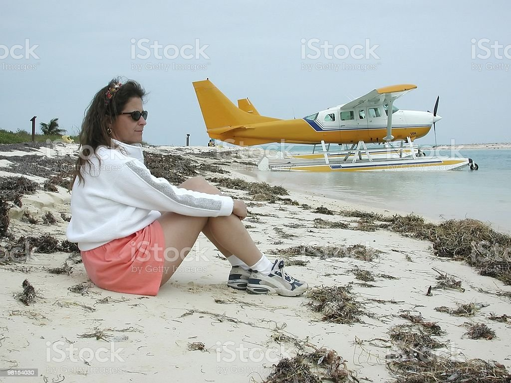 Seaplane to the Island royalty-free stock photo
