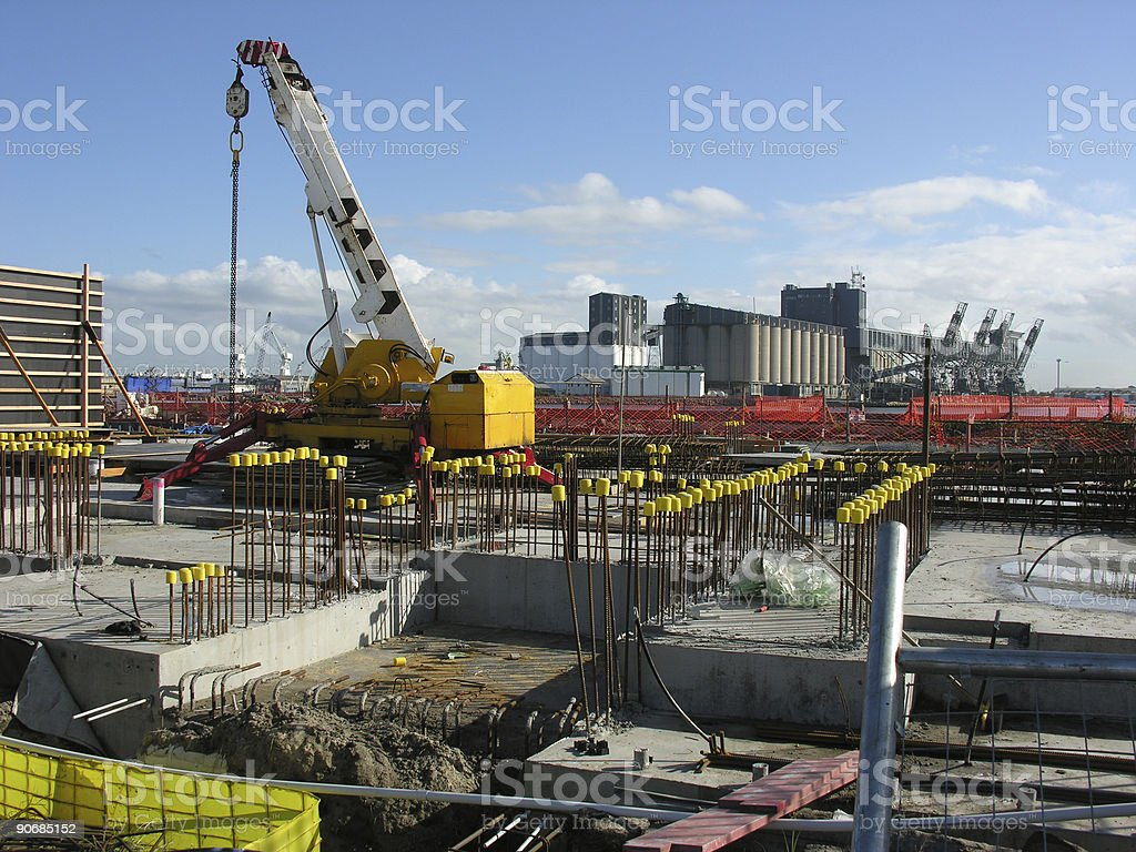 Seaport construction site royalty-free stock photo