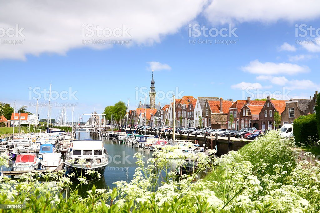 seaport of Veere, Zeeland (Netherlands) stock photo