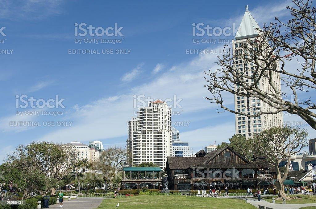 Seaport Village Restaurants And Park Stock Photo Download