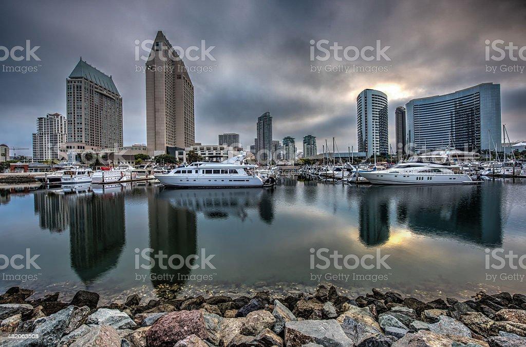 Seaport Village Skyline stock photo