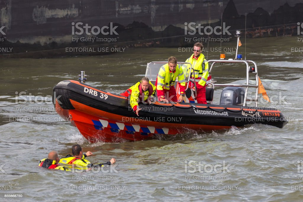 Search And Rescue demonstration stock photo