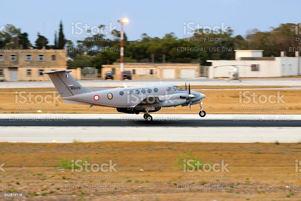 Search and Rescue mission for AFM kingair stock photo