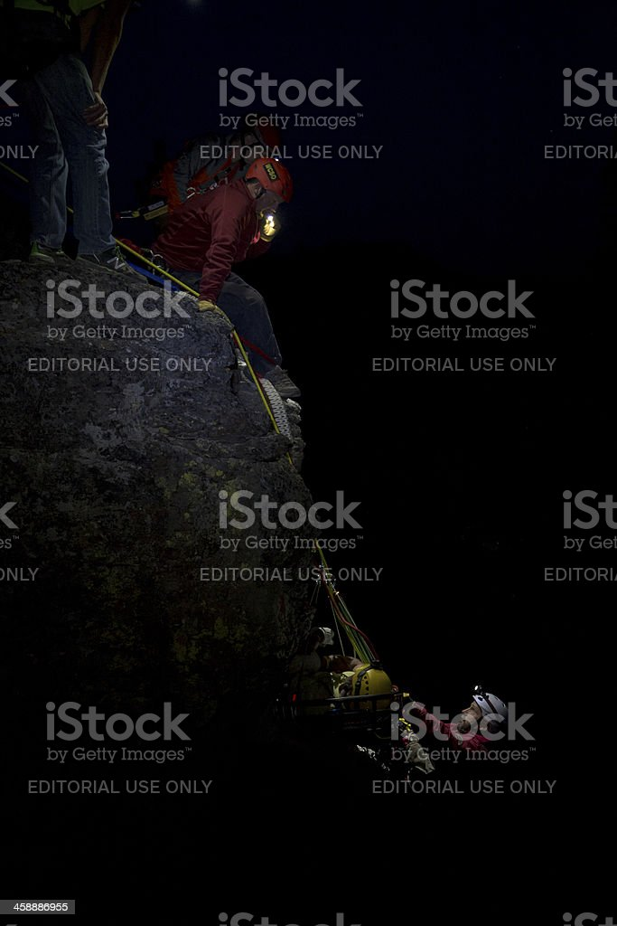 Search and Rescue Technical Ropes royalty-free stock photo