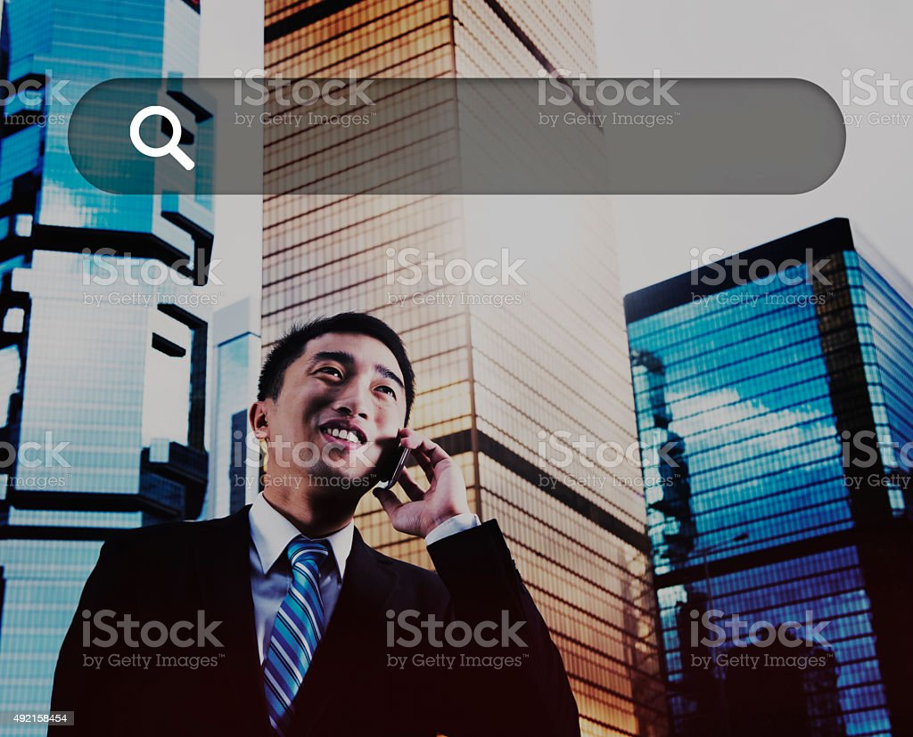 Search Box Web Online Technology Internet Website Concept stock photo