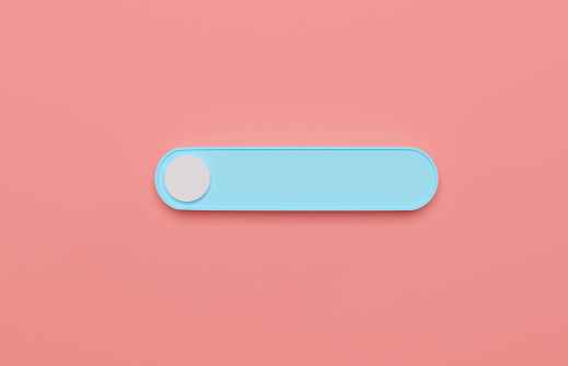 3D Blue Search Button On Pink Background