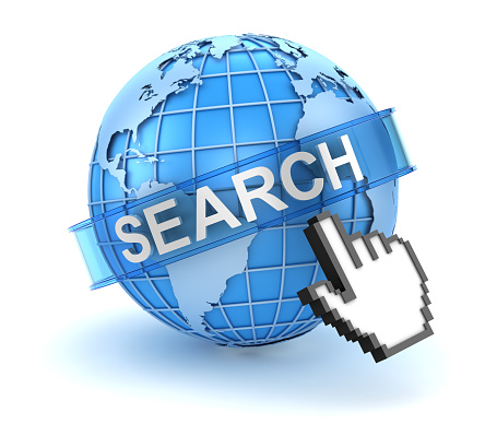 921148564 istock photo Search concept with world and hand cursor 606651266