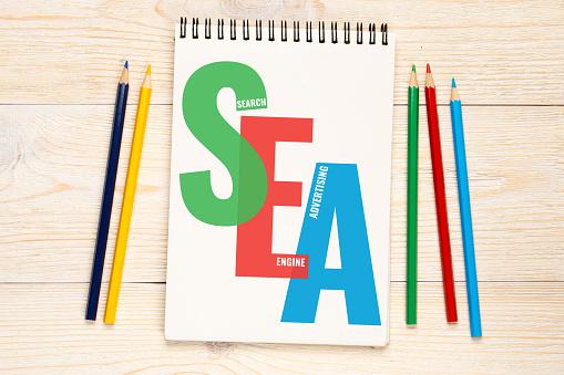 Foto de Sea Search Engine Advertising Concept e mais fotos de stock de  Abstrato - iStock