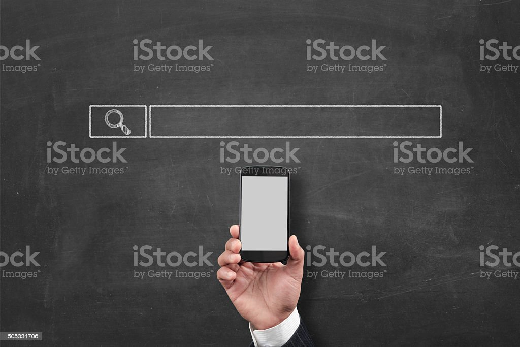 Search engine and smartphone stock photo