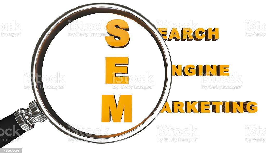 search engine marketing stock photo