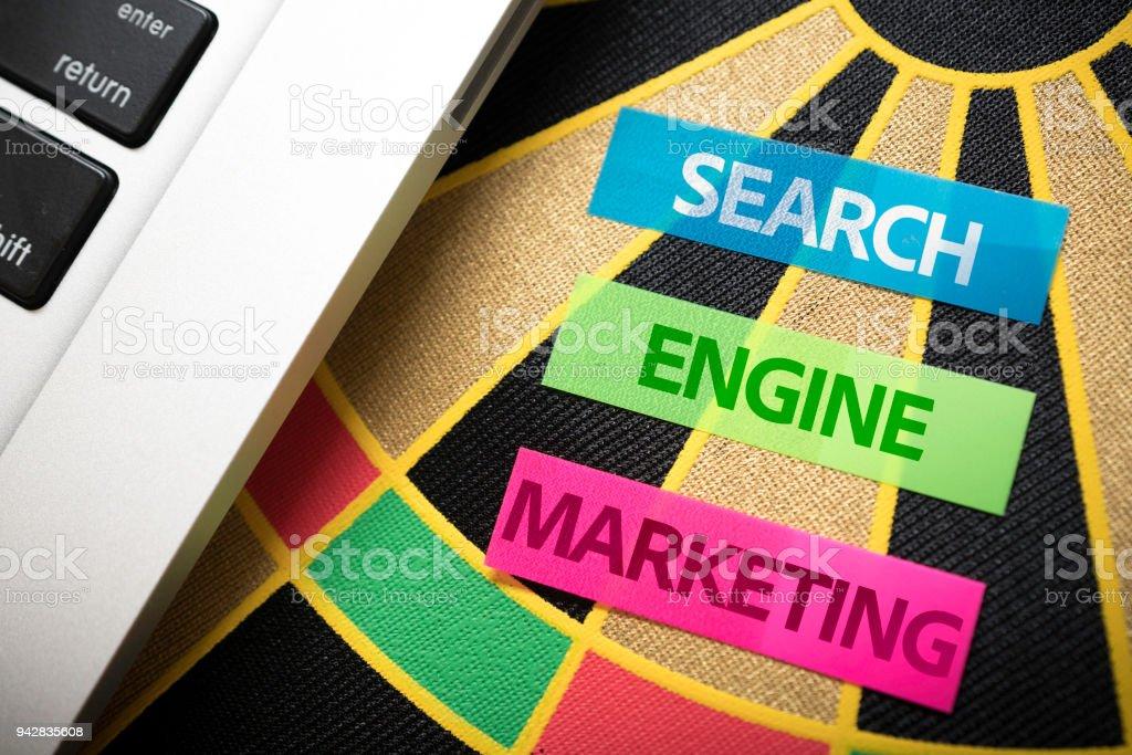 SEM Marketing de búsqueda del motor - foto de stock