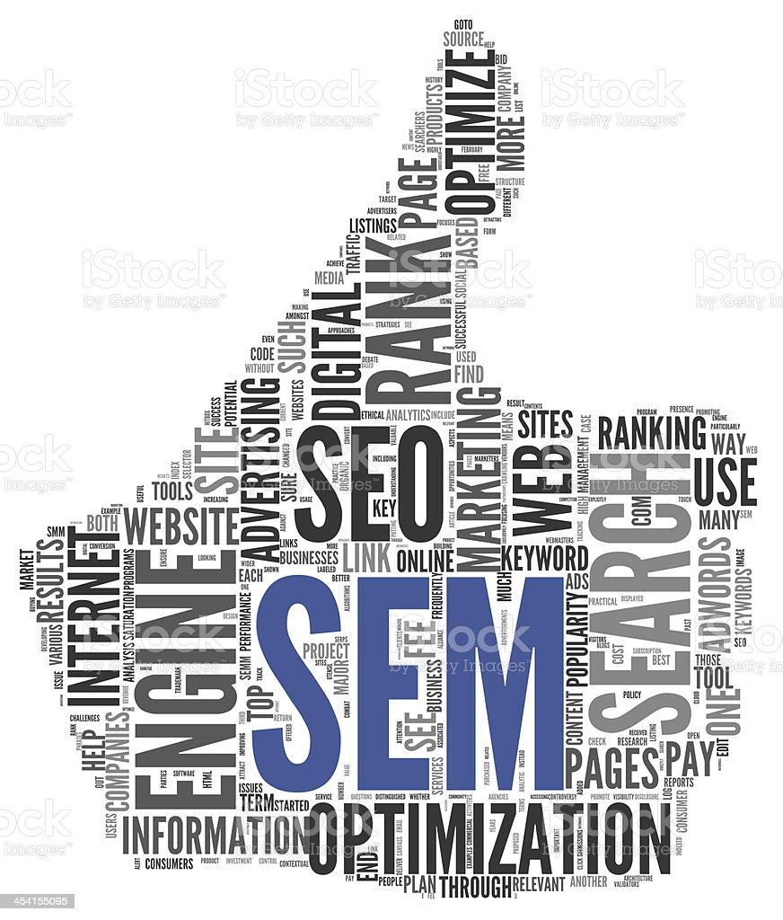 Search engine marketing SEM concept stock photo
