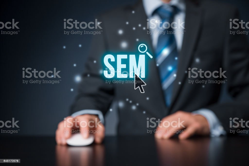 Search engine marketing - SEM - foto de stock