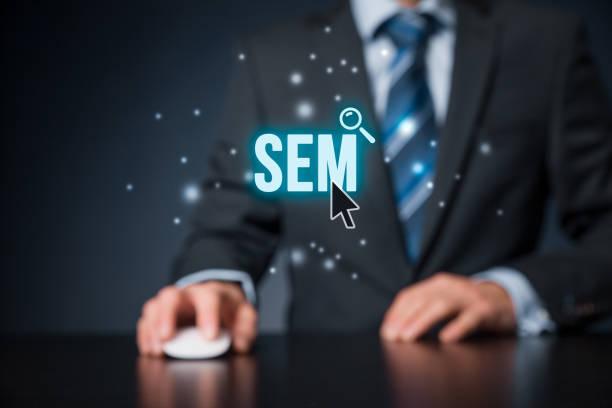 Search engine marketing - SEM stock photo