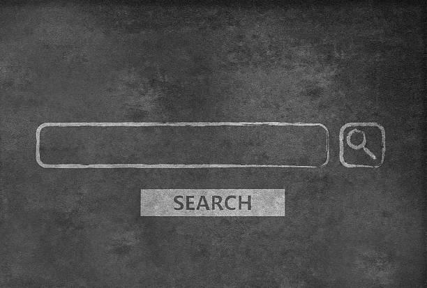 Search Engine on a blackboard stock photo