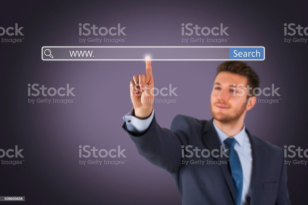 Search Engine on Screen stock photo