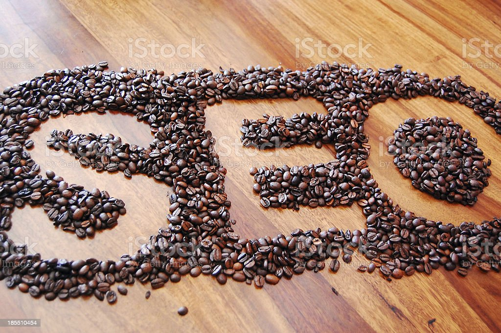 SEO - Search Engine Optimisation made of coffee beans stock photo