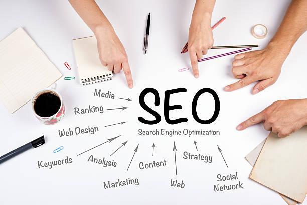 SEO Search Engine Optimization concept stock photo
